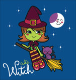 Cute Witch Royalty Free Stock Photography