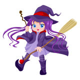 Cute Witch Stock Photo