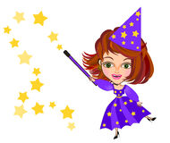Cute witch cartoon Stock Images