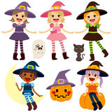 Cute Witch Collection Royalty Free Stock Photo