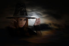 Cute witch. Stock Image