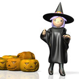 Cute witch Stock Image