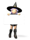 Cute witch Royalty Free Stock Photo