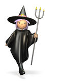Cute witch Stock Images