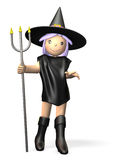 Cute witch Stock Photography
