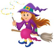 Cute witch theme image Stock Image