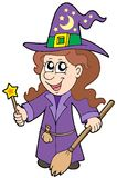 Cute wizard girl Royalty Free Stock Images