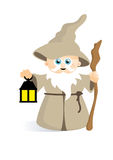 Cute wizard grey Royalty Free Stock Photo