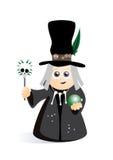 Cute wizard voodoo Stock Image