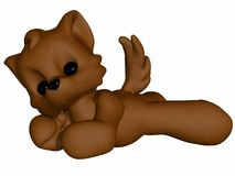 Cute Wolf - Toon Figure Stock Photos