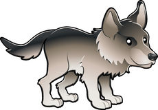 Cute Wolf Vector Illustration Royalty Free Stock Photography