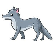 Cute wolf on a white background. Royalty Free Stock Photography
