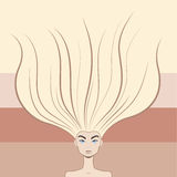 Cute woman with beautiful long hair. Salon style Stock Photo