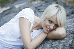 Cute woman with a beautiful smile Royalty Free Stock Image