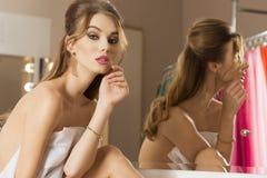 Cute woman in beauty salon Stock Image