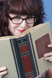 Cute woman with book Royalty Free Stock Image