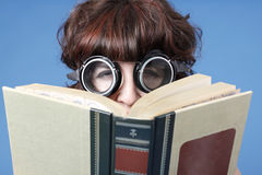 Cute woman with book stock image