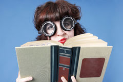 Cute woman with book Stock Photography