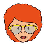 Cute woman character icon. Illustration design Royalty Free Stock Photography