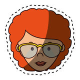 Cute woman character icon. Illustration design Stock Image