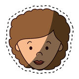 Cute woman character icon. Illustration design Royalty Free Stock Photos