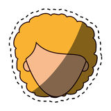 Cute woman character icon. Illustration design Royalty Free Stock Image