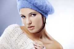 Cute woman close-up Royalty Free Stock Photos