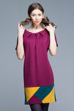 Cute woman in colorful summer dress Royalty Free Stock Photos