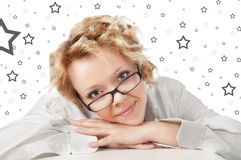 Cute woman daydreaming Stock Photography