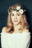 Cute woman with fair hair Royalty Free Stock Photos