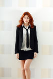 Cute woman in formal dress Stock Photos