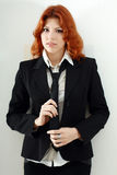 Cute woman in formal dress Stock Image