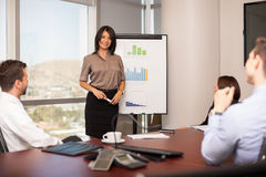 Cute woman giving presentation Stock Image