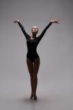 Cute woman gymnast Stock Photos