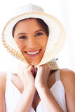 Cute woman hat Stock Photos