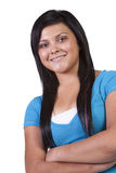 Cute Woman with her arms crossed Royalty Free Stock Photo
