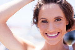 Cute woman laughing Royalty Free Stock Photo