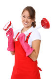Cute Woman Maid Royalty Free Stock Photography