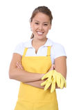 Cute Woman Maid Stock Image