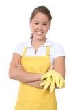 Cute Woman Maid Stock Image