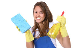 Cute Woman Maid Royalty Free Stock Images