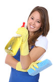 Cute Woman Maid Stock Photo