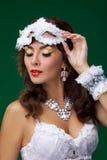 Cute woman in masquerade mask Royalty Free Stock Photos
