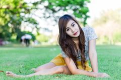 Cute woman in the park Stock Image