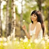 Cute woman in the park Royalty Free Stock Photography