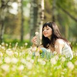 Cute woman in the park Stock Photo
