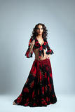 Cute woman posing in gypsy costume Royalty Free Stock Photo