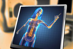 Cute woman radiography Royalty Free Stock Images