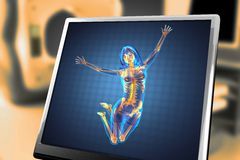 Cute woman radiography Royalty Free Stock Photo
