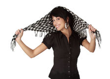Cute woman with scarf Royalty Free Stock Photos